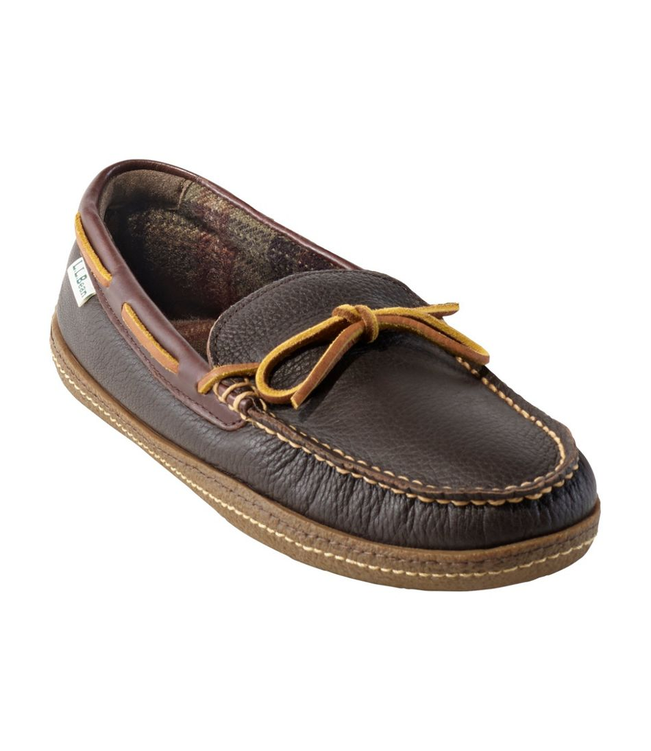 Men's Handsewn Slippers, Flannel-Lined