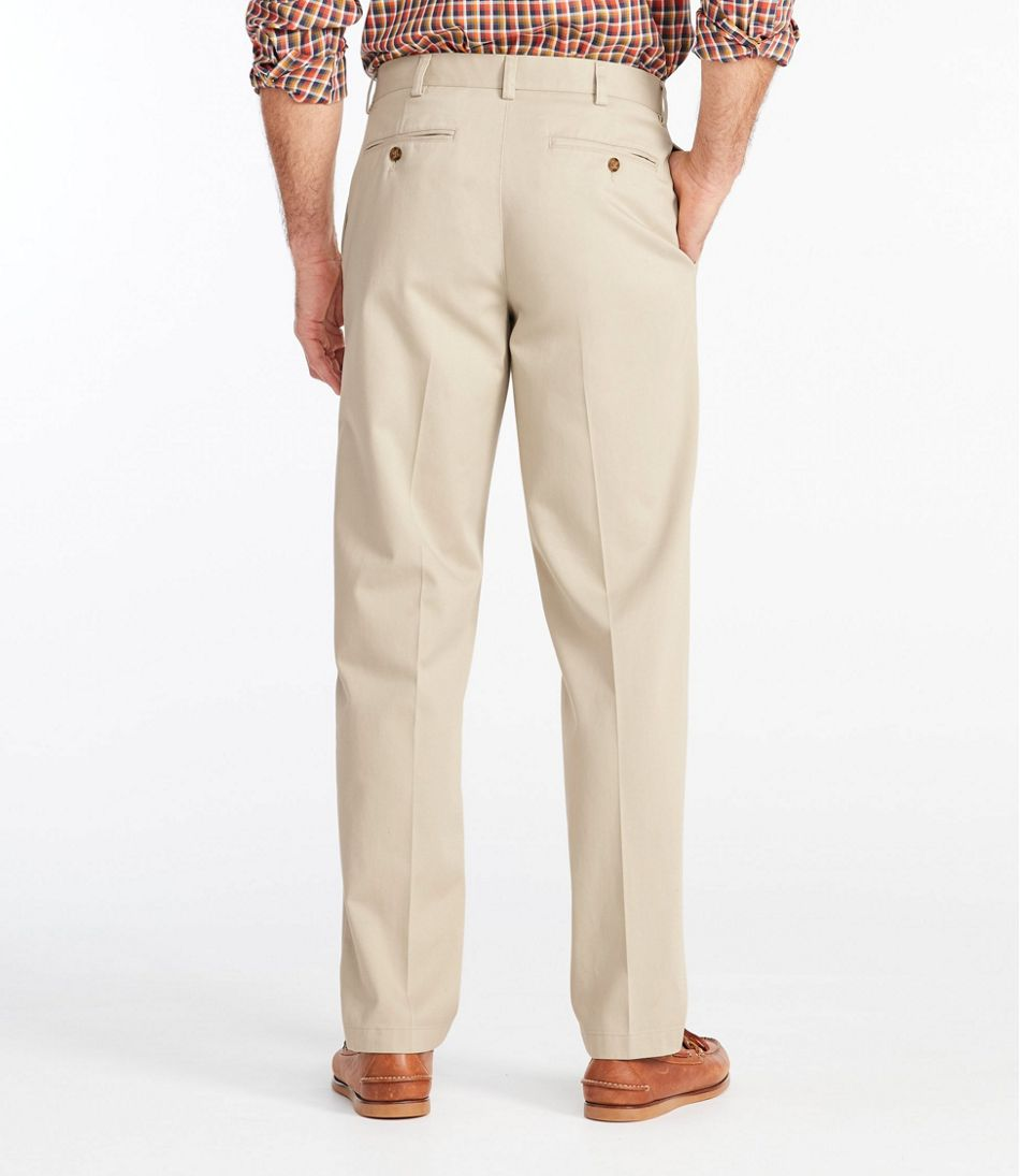 Men's Wrinkle-Free Double L® Chinos, Classic Fit Plain Front
