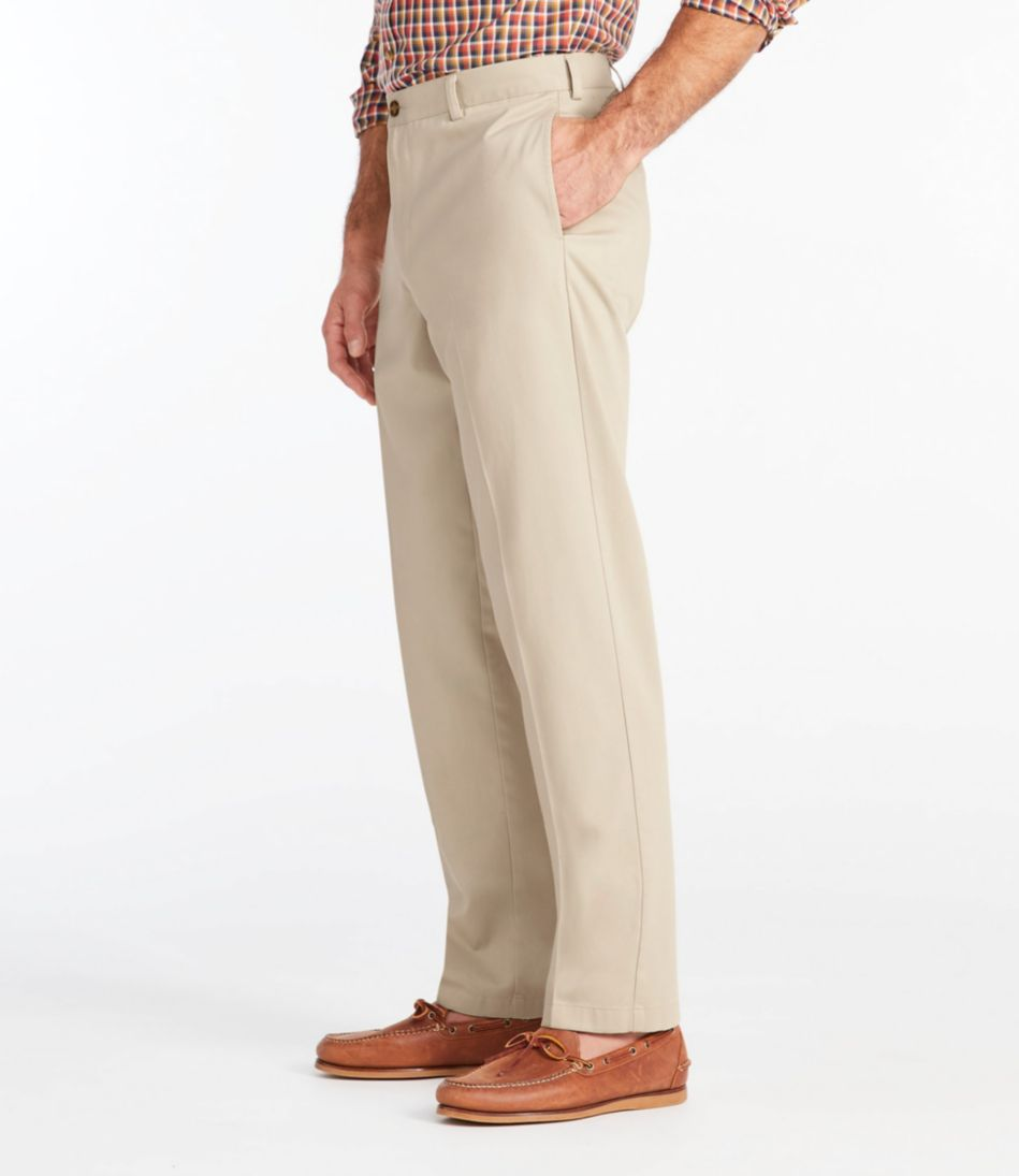 Wrinkle-Free Double L® Chinos, Classic Fit Plain Front