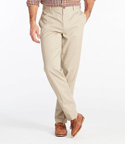 Men's Wrinkle-Free Double L Chinos, Classic Fit Plain Front
