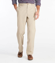 Wrinkle-Free Double L Chinos, Natural Fit Plain Front