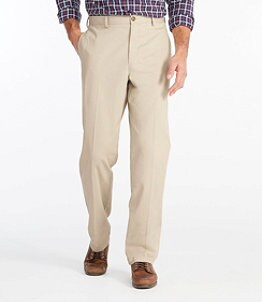 Men's Wrinkle-Free Double L Chinos, Natural Fit Plain Front