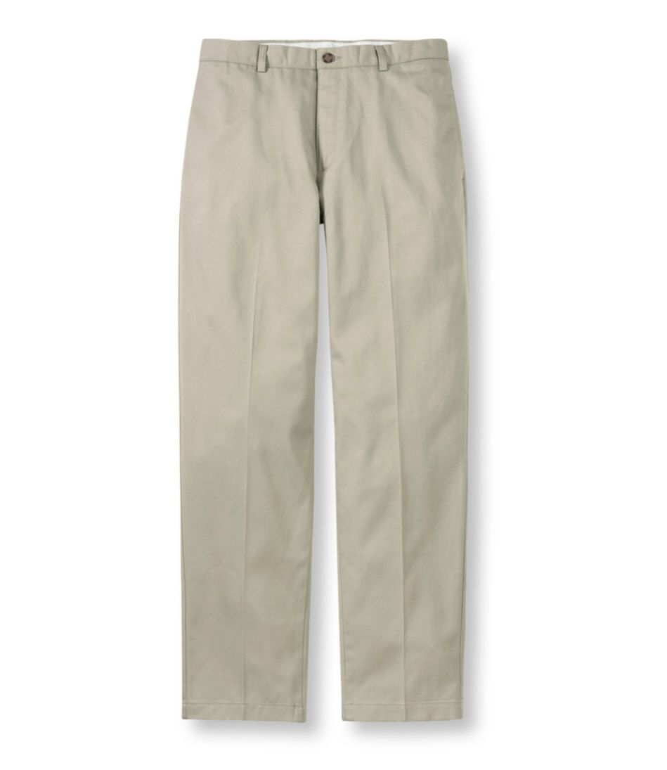 Wrinkle-Free Double L® Chinos, Natural Fit Plain Front