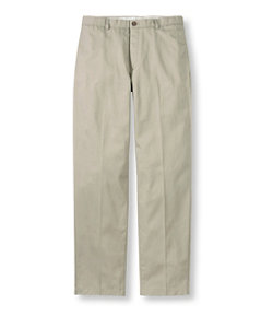 Men's Wrinkle-Free Double L® Chinos, Natural Fit Plain Front