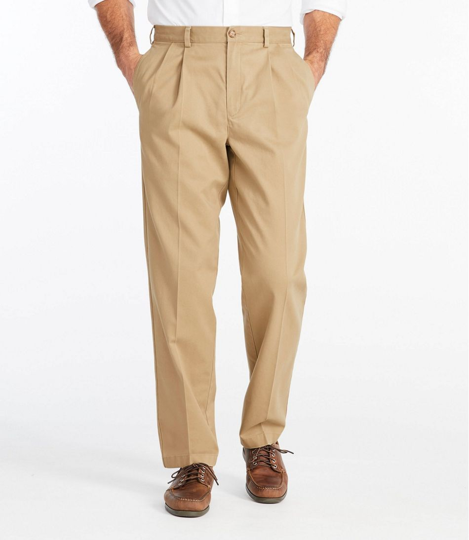 Wrinkle-Free Double L® Chinos, Classic Fit Pleated