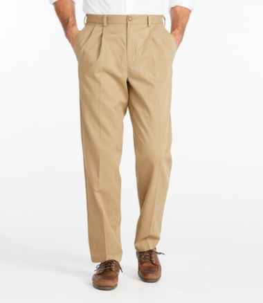 Men's Wrinkle-Free Double L® Chinos, Classic Fit Pleated