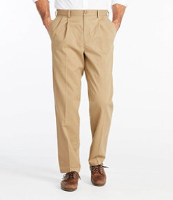 Men's Wrinkle-Free Double L Chinos, Classic Fit Pleated