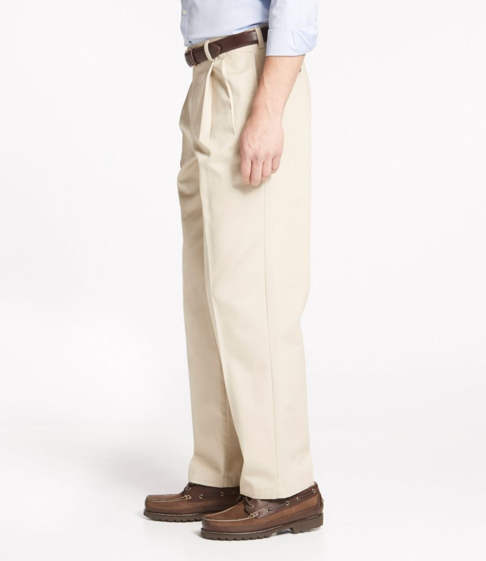 Wrinkle-Free Double L® Chinos, Natural Fit Pleated