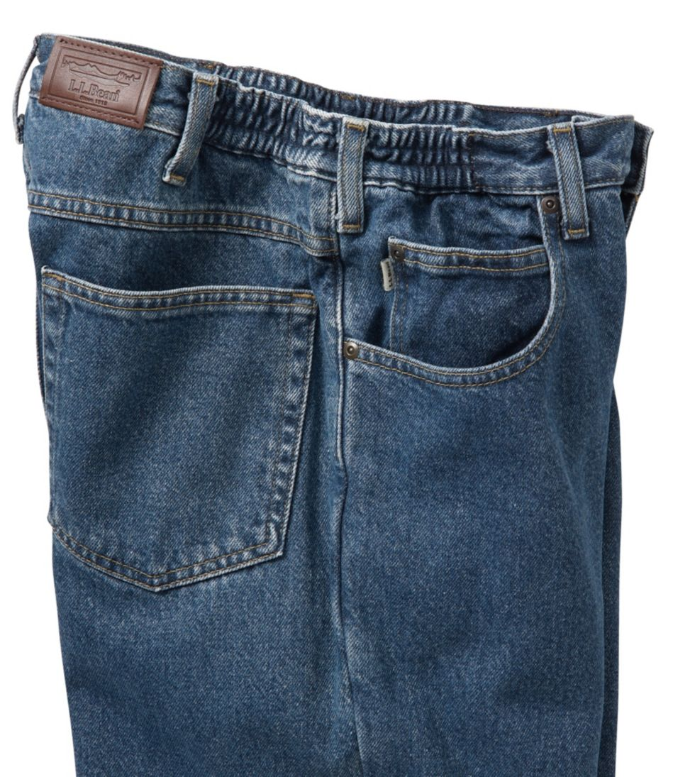Double L® Jeans, Flannel-Lined Natural Fit Comfort Waist