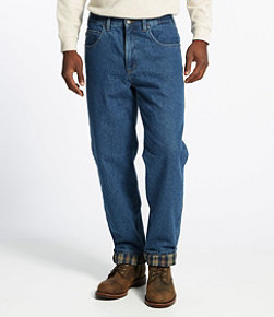Double L Jeans, Flannel-Lined Natural Fit Comfort Waist