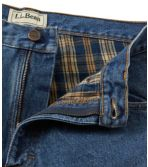 Men's Double L® Jeans, Flannel-Lined Natural Fit Comfort Waist