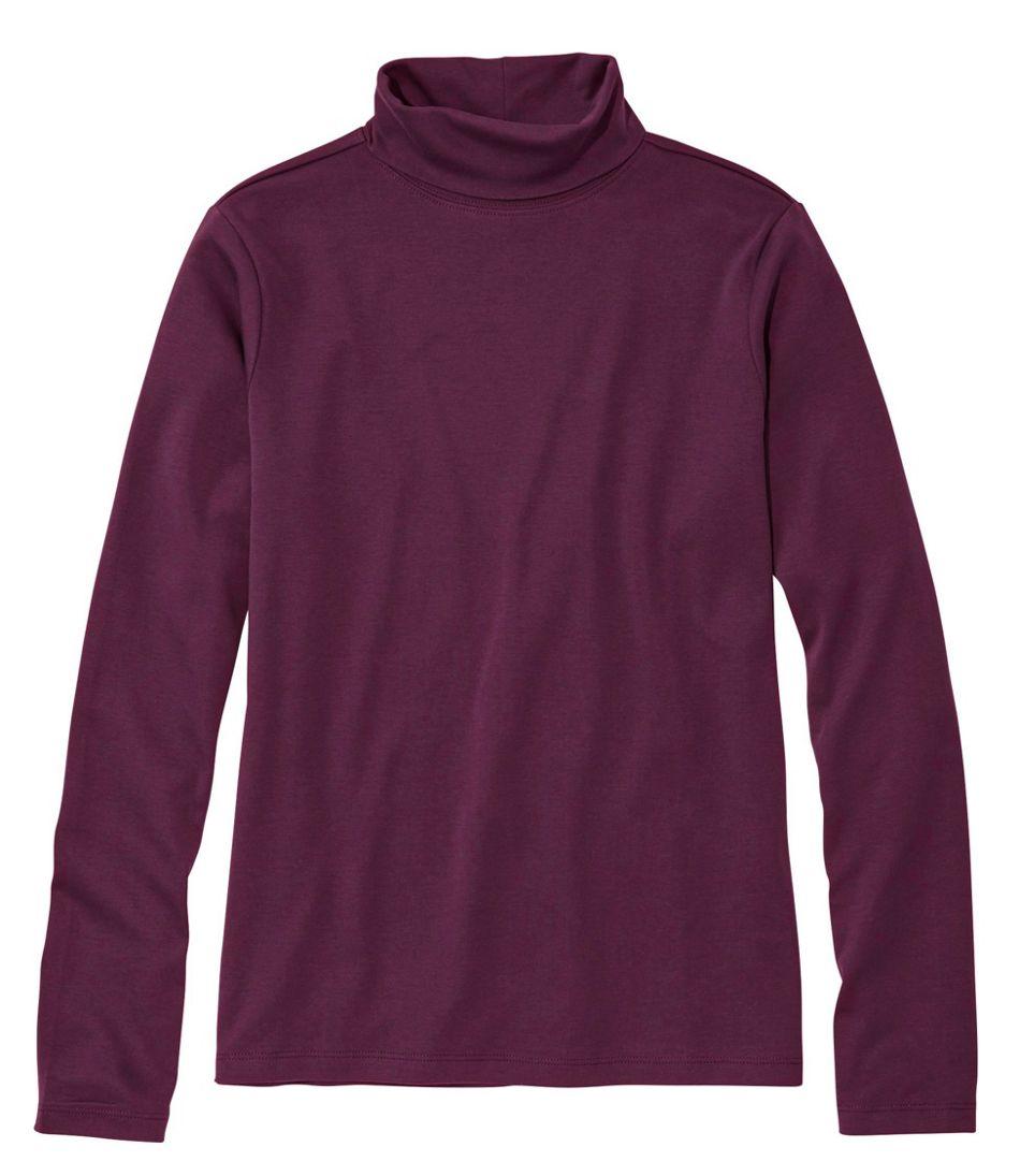 Pima Cotton Turtleneck, Long-Sleeve