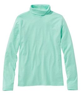 Women's Pima Cotton Turtleneck, Long-Sleeve