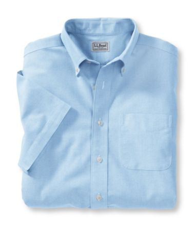 Wrinkle-Free Classic Oxford Cloth Shirt, Traditional Fit Short-Sleeve