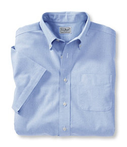 Men's Wrinkle-Free Classic Oxford Cloth Shirt, Traditional Fit Short-Sleeve