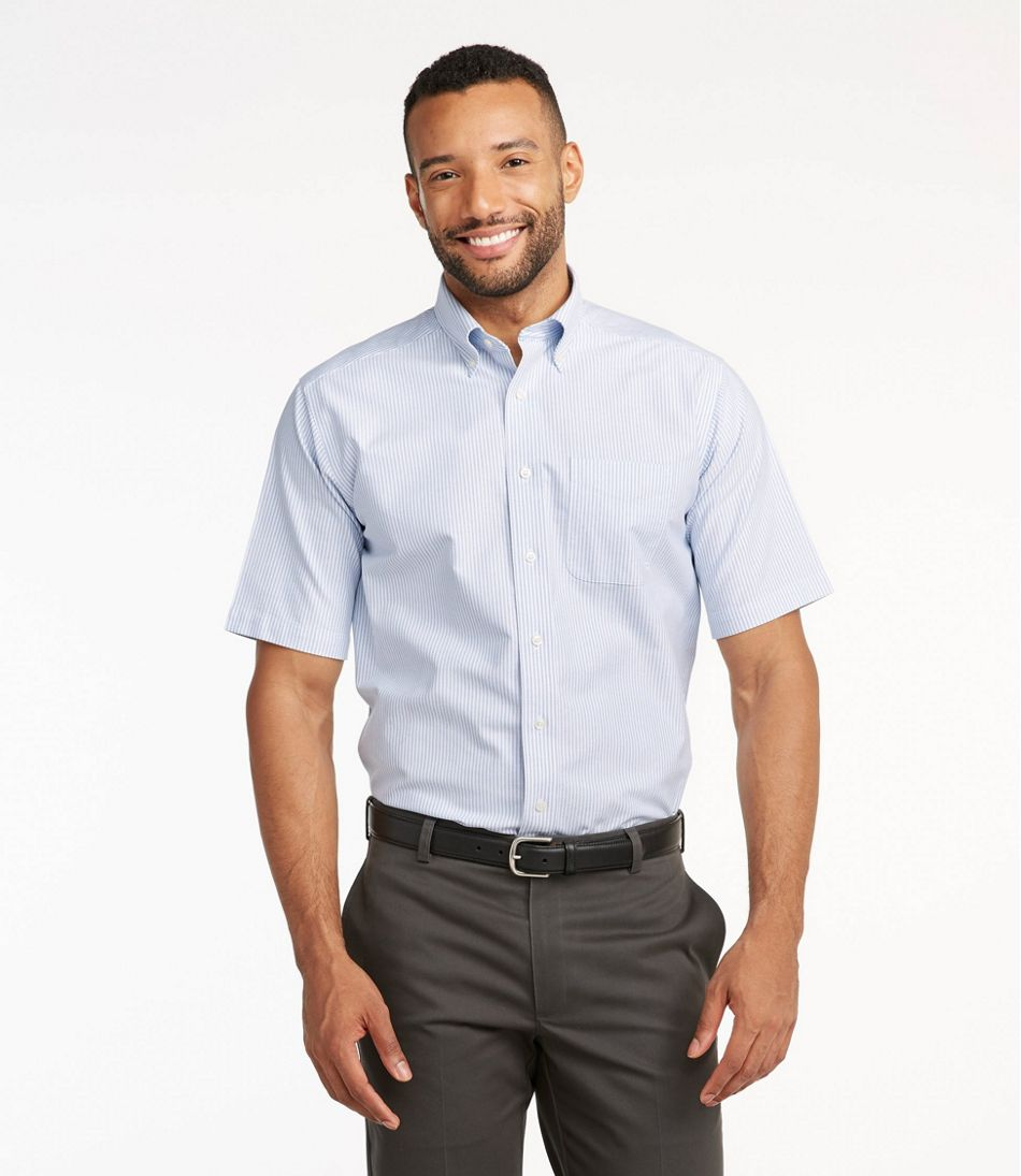 Mens Short Sleeve Wrinkle Free Oxford Shirt, Minimum 2 Pieces Order Required in 1 or 2 Color .