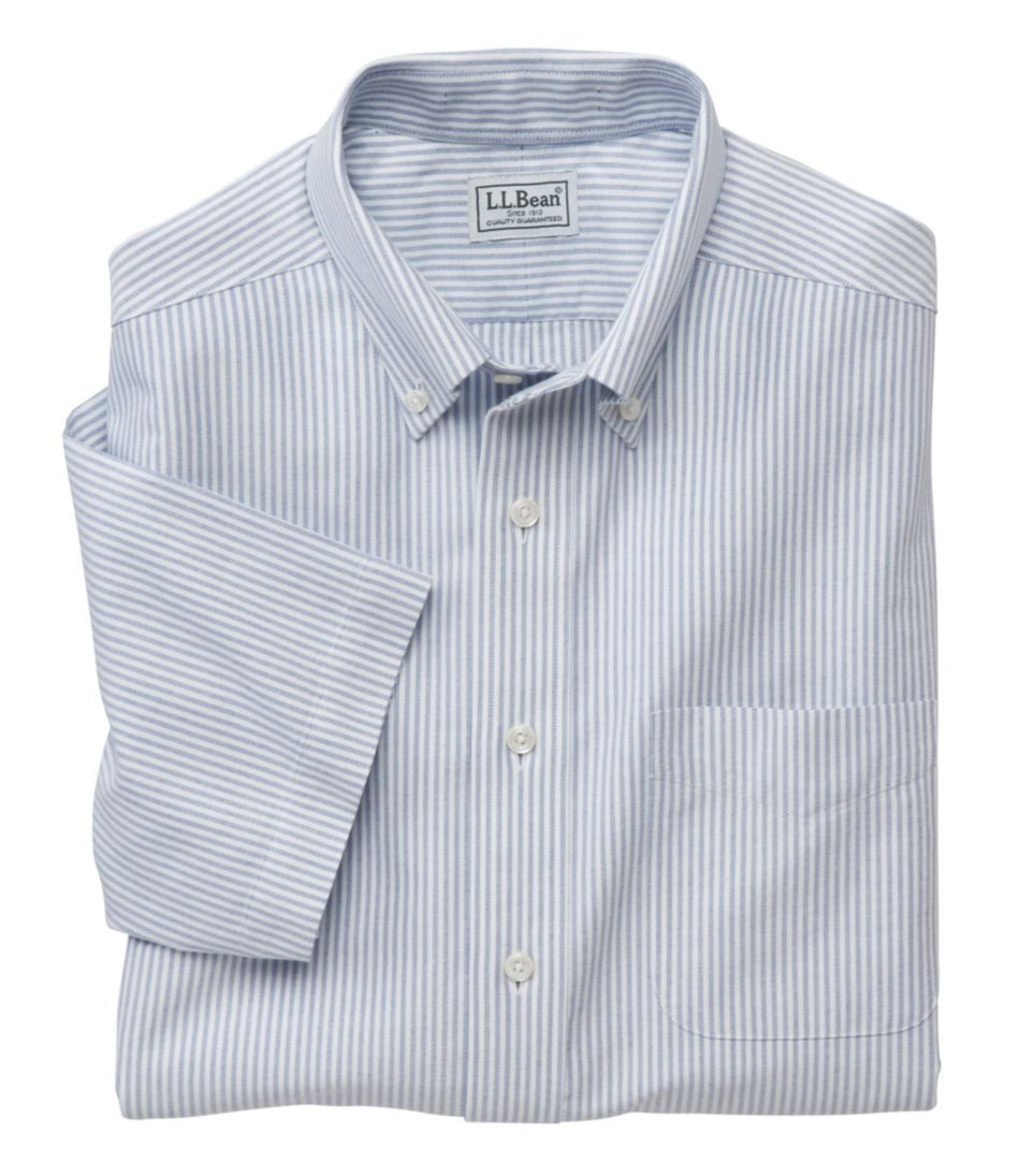 Men S Wrinkle Free Classic Oxford Cloth Shirt Traditional Fit Short