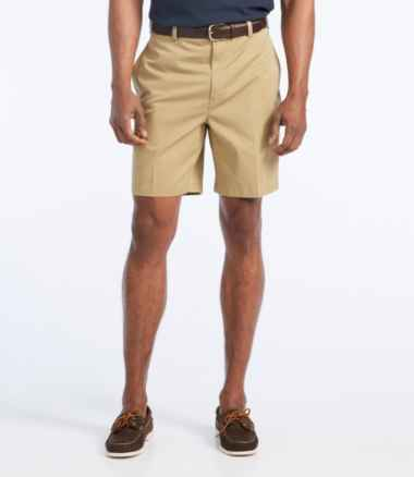 "Wrinkle-Free Double L® Chino Shorts, Natural Fit Plain Front 8"" Inseam"