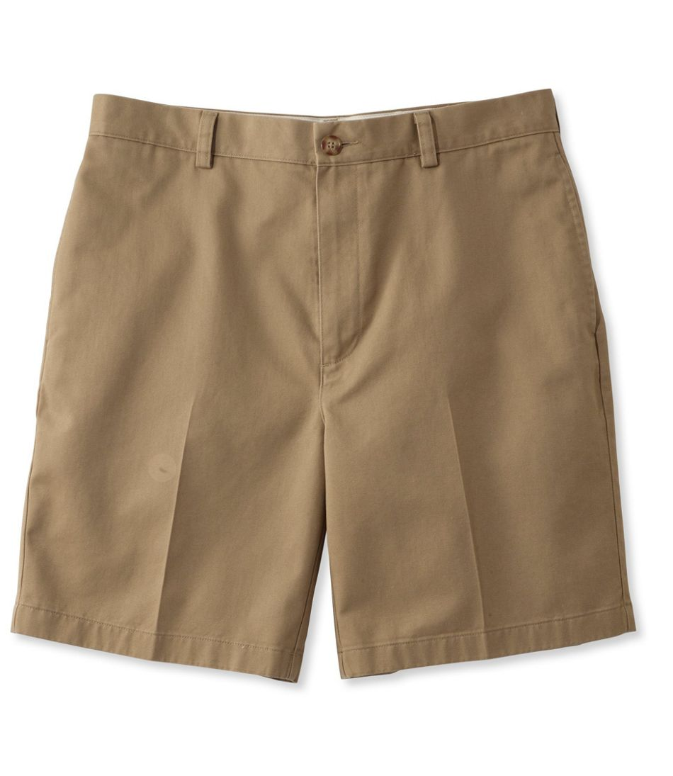 """Men's Wrinkle-Free Double L® Chino Shorts, Natural Fit Plain Front 8"""" Inseam"""