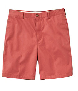 "Wrinkle-Free Double L Chino Shorts, Natural Fit Plain Front 8"" Inseam"