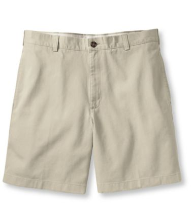"Wrinkle-Free Double L® Chino Shorts, Natural Fit Plain Front 6"" Inseam"
