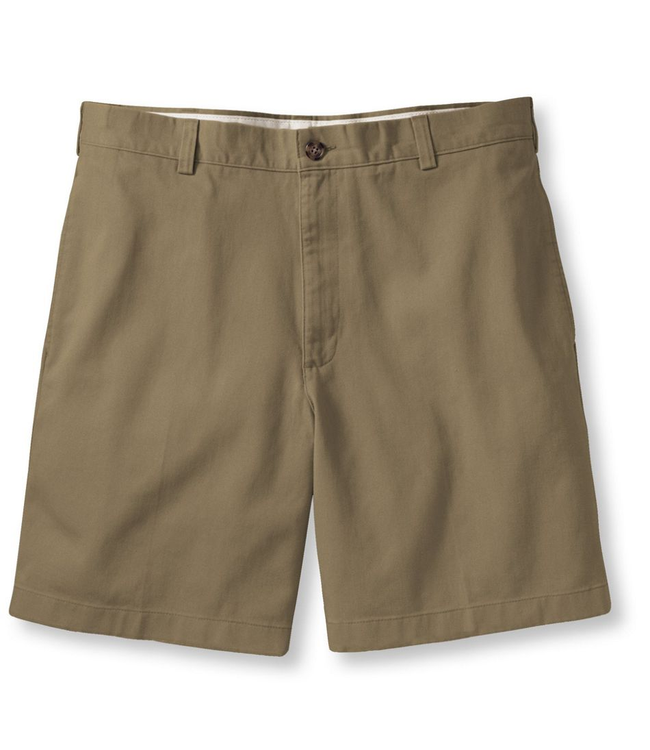 "Men's Wrinkle-Free Double L® Chino Shorts, Natural Fit Plain Front 6"" Inseam"