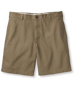 "Men's Wrinkle-Free Double L Chino Shorts, Natural Fit Plain Front 6"" Inseam"