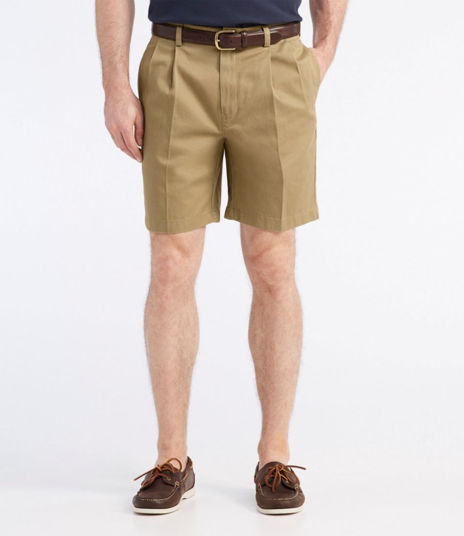 """Wrinkle-Free Double L® Chino Shorts, Pleated 8"""" Inseam"""