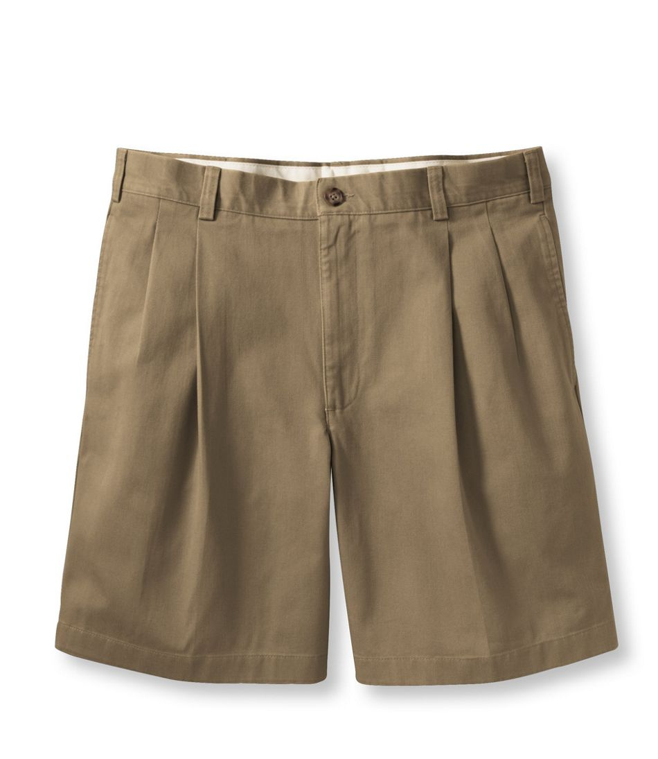Men's Wrinkle-Free Double L Chino Shorts, Pleated 8