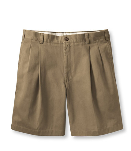 Wrinkle-Free Double L Chino Shorts, Pleated 8 Inseam | Free ...