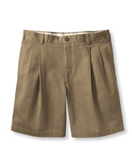 "Wrinkle-Free Double L Chino Shorts, Pleated 8"" Inseam"