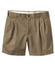 "Wrinkle-Free Double L Chino Shorts, Natural Fit Pleated 6"" Inseam"