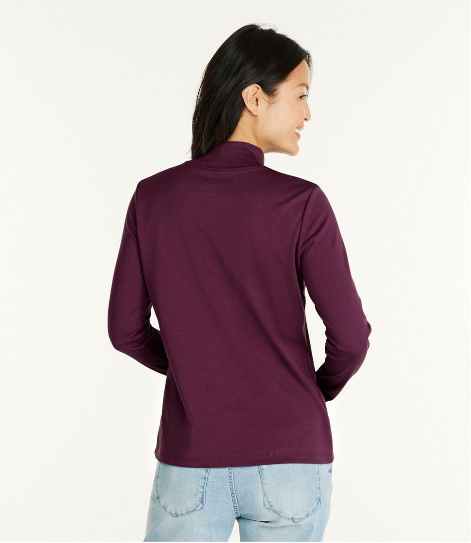 Pima Standup Neck Long-Sleeve