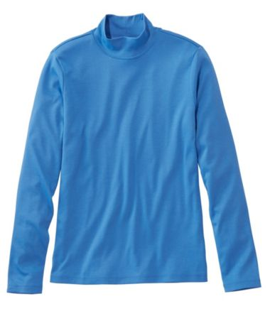 Pima Standup Neck Long-Sleeve Misses'