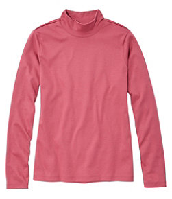 Pima Standup Neck Long-Sleeve