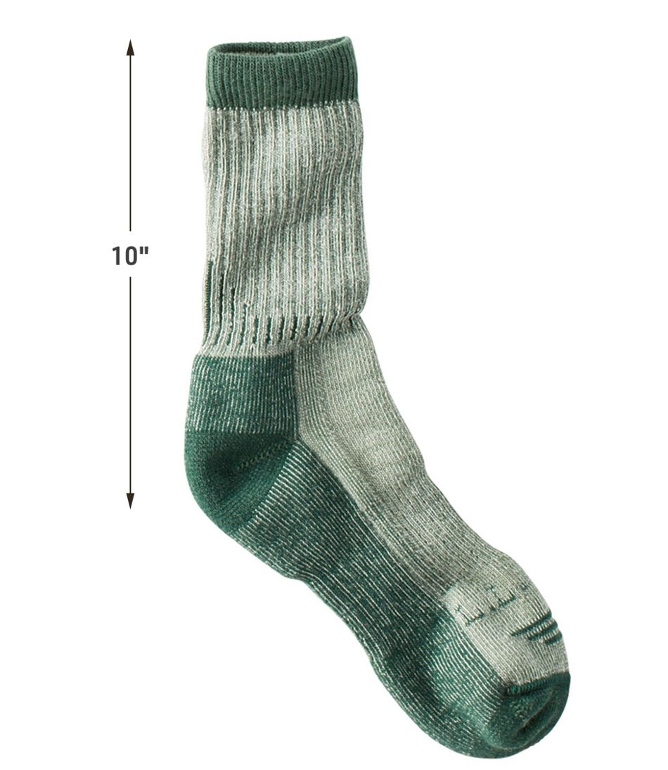 Hiking socks moister wicking midweight cotton crew sock for women men 3 pairs