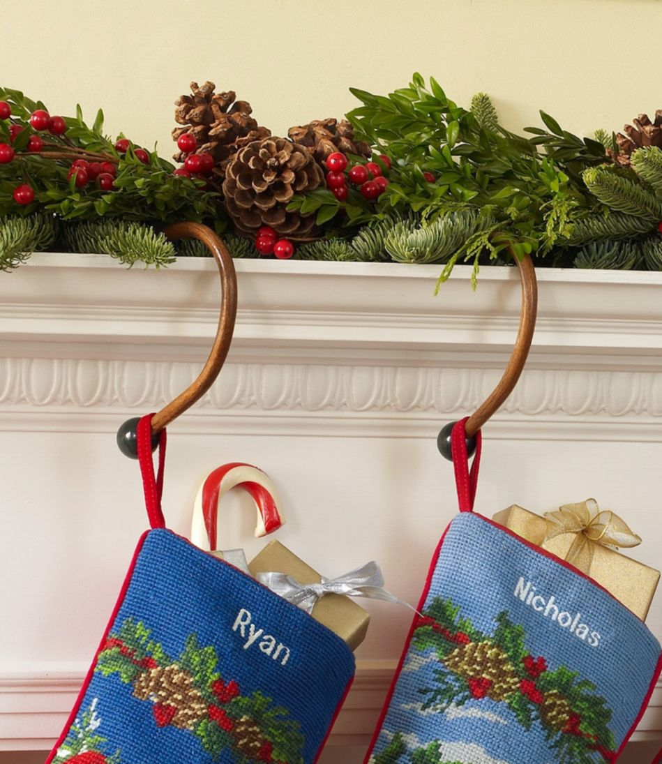 Wooden Stocking Hangers, Set of Two
