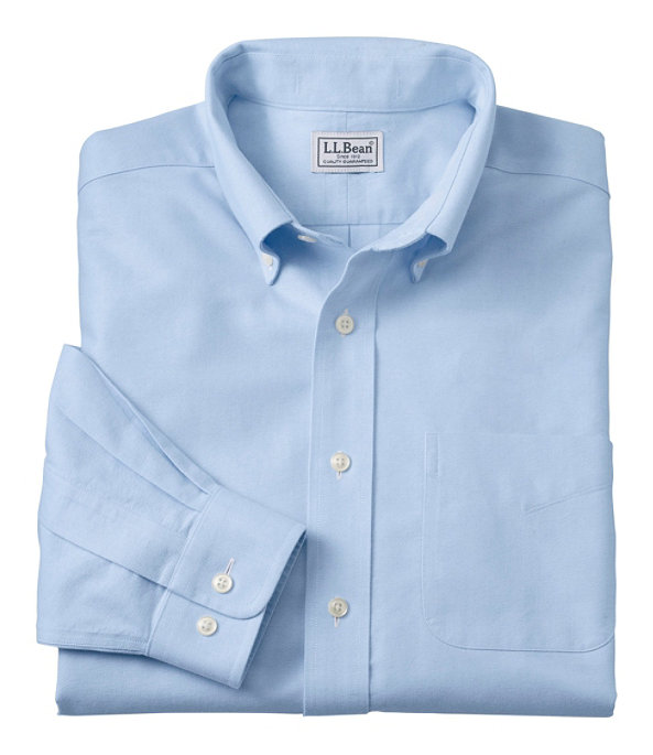 Wrinkle-Free Classic Oxford Cloth Shirt, Blue, large image number 0