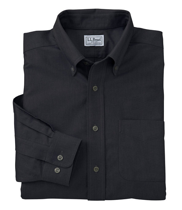 Wrinkle-Free Classic Oxford Cloth Shirt, Ink Black, large image number 0