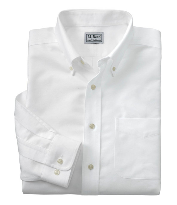 Wrinkle-Free Classic Oxford Cloth Shirt, White, large image number 0