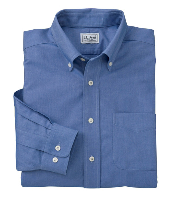 Wrinkle-Free Classic Oxford Cloth Shirt, Royal Blue, large image number 0