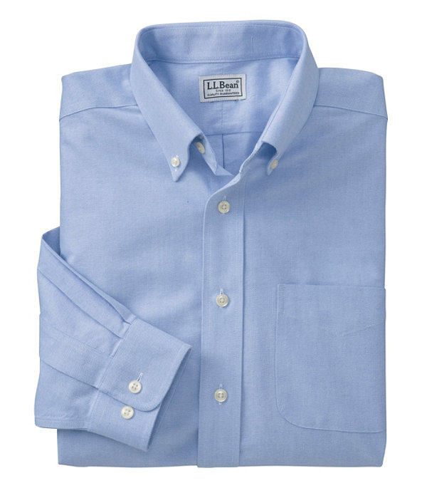 Wrinkle-Free Classic Oxford Cloth Shirt, French Blue, large image number 0