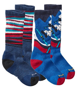 Kids' SmartWool Socks, Two-Pack
