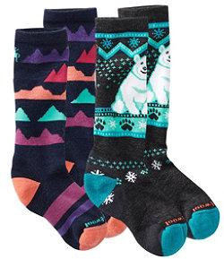 Kids' SmartWool Socks, Two-Pack