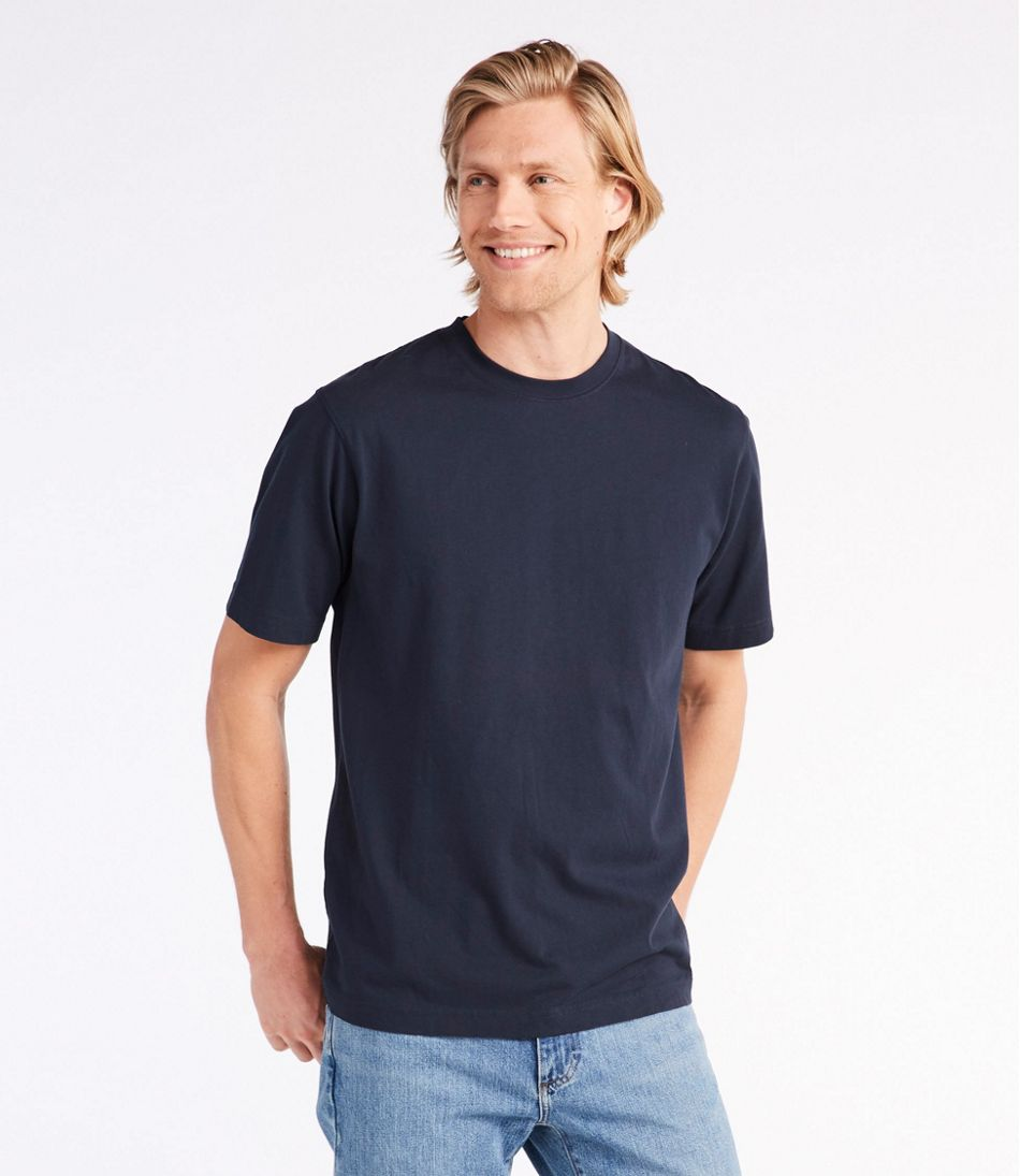 Men's Carefree Unshrinkable Tee, Traditional Fit Short-Sleeve