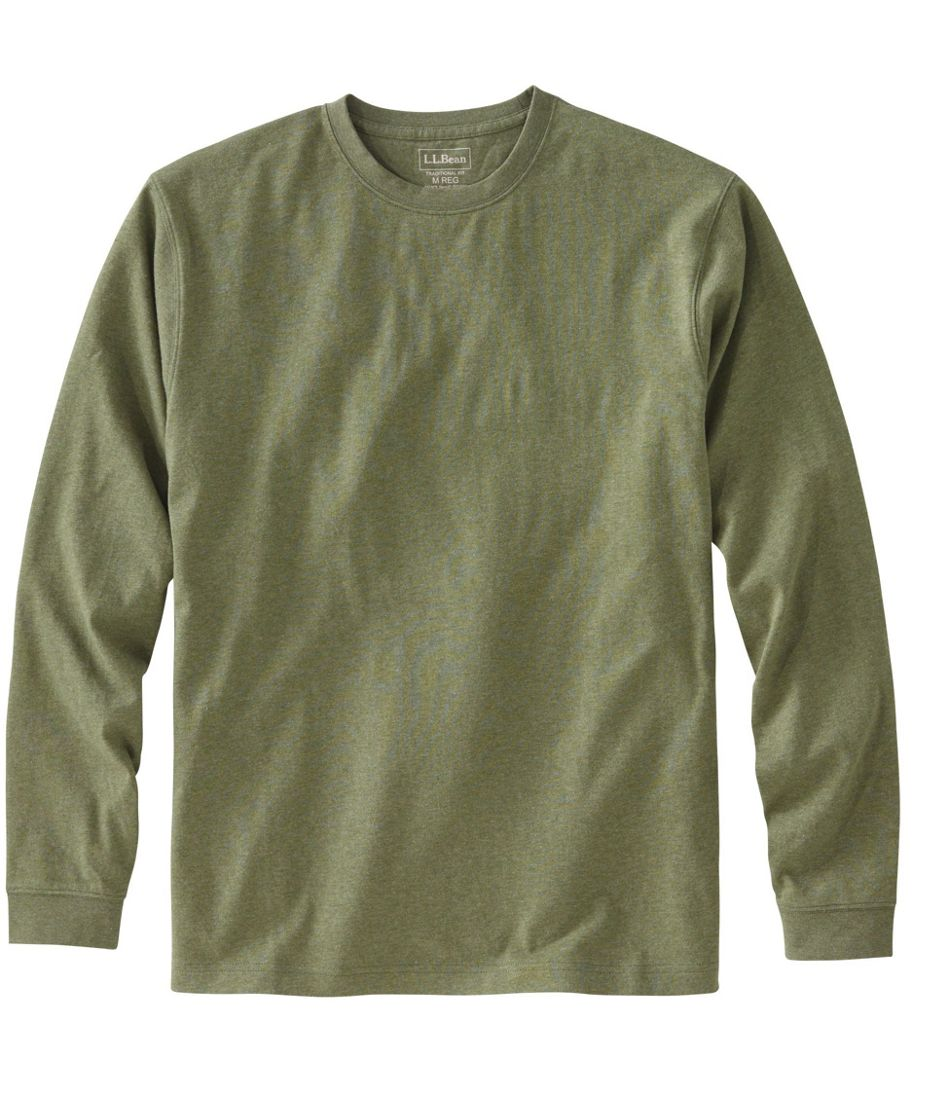 c1132b19e527 Men's Carefree Unshrinkable Tee, Traditional Fit, Long-Sleeve