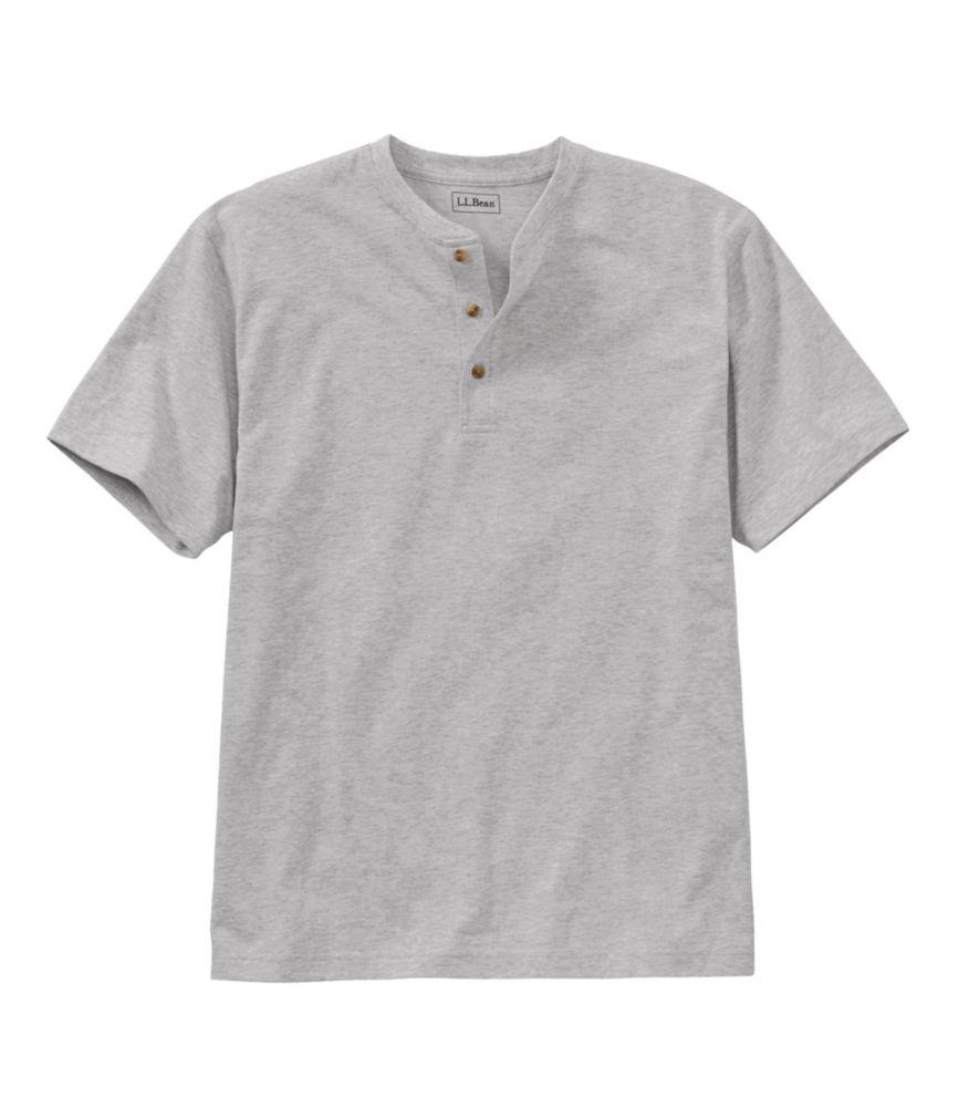 Men's Carefree Unshrinkable Shirt, Henley Short-Sleeve
