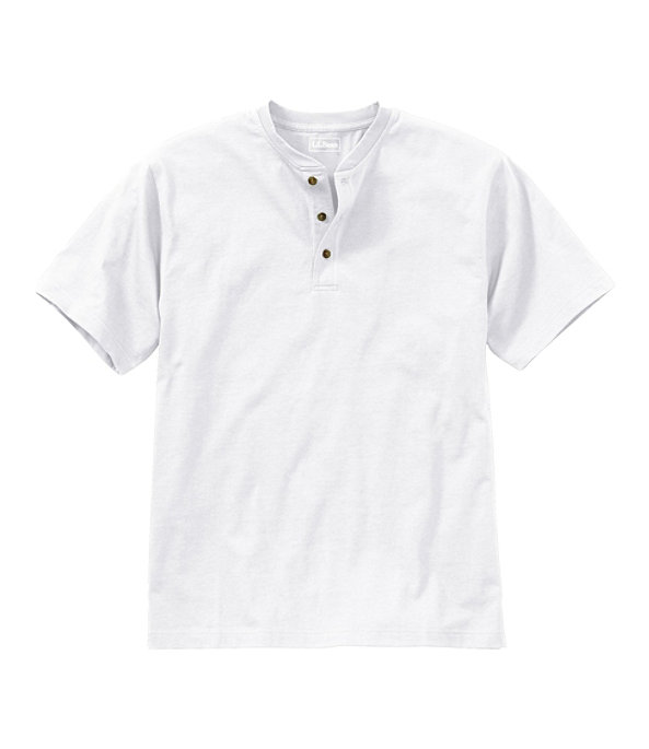 Men's Carefree Unshrinkable Shirt, Henley Short-Sleeve, , large image number 0