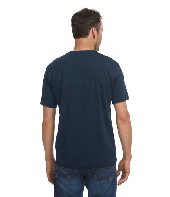 Men's Carefree Unshrinkable Shirt, Henley Short-Sleeve, , large image number 2