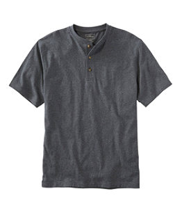 Men's Carefree Unshrinkable Tee, Traditional Fit, Henley